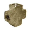 "John Guest 4 Way Cross 1/4"", brass water fitting"