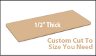 Custom Cutting Board - 1/2 Inch Thick - Tan