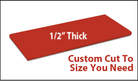 Custom Cutting Board - 1/2 Inch Thick - Red