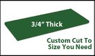 Custom Cutting Board - 3/4 Inch Thick - Green