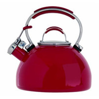 Prestige 50558 émail Cuisinière sifflement bouilloire en rouge