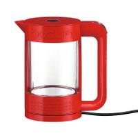 Bodum Bistro 1.1Lt à double paroi de verre en rouge Kettle