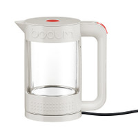 Bodum Bistro 1.1Lt à double paroi en verre blanc Kettle