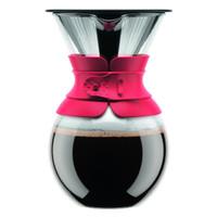 Bodum versez sur la cafetière avec filtre permanent 1 Litre - rouge