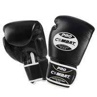 PRO COMBAT Leather Muay Thai Training Gloves