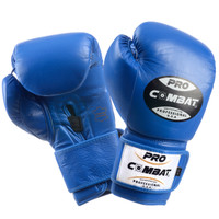 PRO COMBAT Training Gloves with Velcro Closure Blue Color