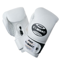 PRO COMBAT Training Gloves with Velcro Closure White Color