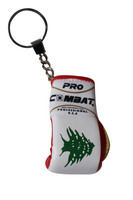 PRO COMBAT LEBANON FLAG BOXING GLOVE KEY RING
