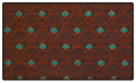 Premium Burgundy Pattern Crown Back Banquet Chair Fabric Swatch