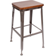 BFM Seating Lincoln Industrial Backless Bar Stool