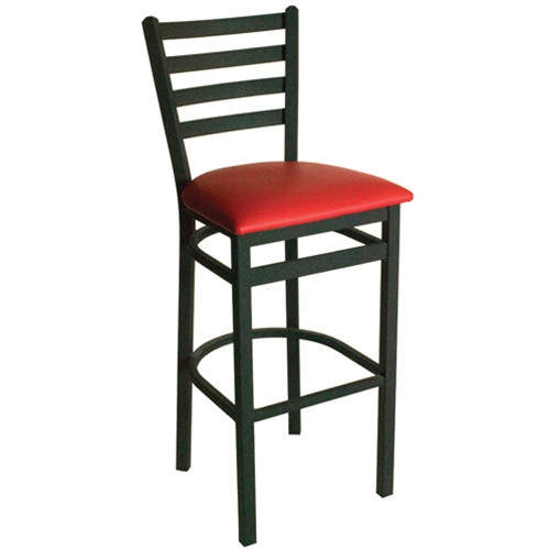 Bfm Seating Lima Metal Ladder Back Restaurant Bar Stool
