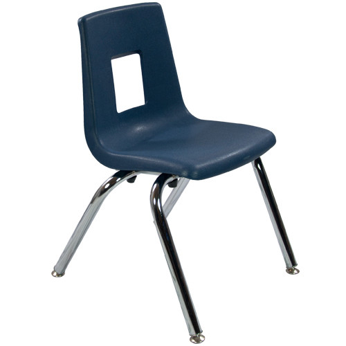Navy Stack Chair 14in | Student Chairs | Classroom Essentials Online