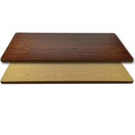 "Advantage 24""x48"" Restaurant Table Top - Oak / Walnut Reversible [CT2448-OWBR]"