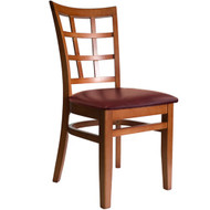 BFM Seating Pennington Cherry Window Pane Restaurant Chair [WC629CHV]