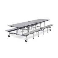 Virco 10 ft. Mobile Cafeteria Bench Table - 15-inch Seat Height [MTB152710]
