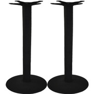 Set of 2 - Advantage 17-in. Round Bar Height Bar & Restaurant Table Bases [CTTR17BR-2]