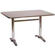 BFM Seating Stiletto 22x32-in. Bar & Restaurant Trestle Bar Height Table Base [PHTB2232T]