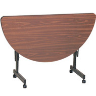 Correll 4 ft. Half Round Melamine EconoLine Flip Top Table [FT2448MR]
