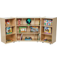 Wood Designs 3-Section Folding Classroom Storage Unit [WD15600]