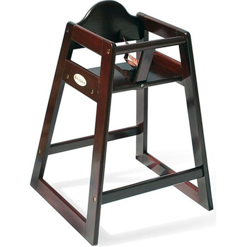 foundations antique cherry wood high chair 4501859 high chairs