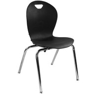 Advantage Titan Black Student Stack School Chair - 18-inch [ADV-TITAN-18BLK]