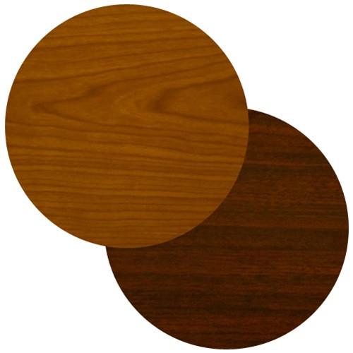 BFM Seating In Round Cherry Or Dark Mahogany Laminate Restaurant - Laminate table tops restaurant