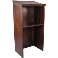Advantage Walnut Wood Classroom Lectern [Lectern-Walnut]