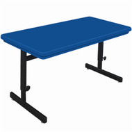 Correll 6 ft. Computer Table - Adjustable Height Blow-Molded Top [RCSA3072]