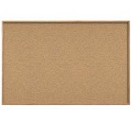 Ghent 4'x4' Natural Cork Bulletin Board - Wood Frame [WK44]