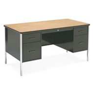 Virco Double Pedestal Teachers Desk [546]