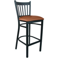Advantage Vertical Slat Back Metal Bar Stool - Mocha Padded [BSVB-BFMV]