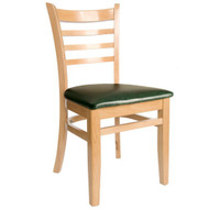 BFM Seating Burlington Natural Wood Ladder Back Restaurant Chair [WC101NTV]