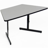 Correll 5 ft. Trapezoid Computer Table - Adjustable Height Melamine Laminate Top [CSA3060MTR]