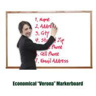 Ghent 3'x4' Verona Hardwood Frame Melamine Whiteboard [M2W-34-1]