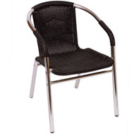 High Quality BFM Seating Madrid Aluminum Outdoor Restaurant Arm Chair [MS21C]