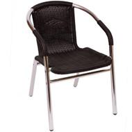 Elegant BFM Seating Madrid Aluminum Outdoor Restaurant Arm Chair [MS21C]