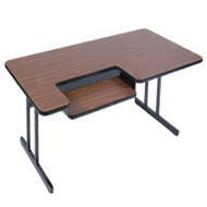 Correll 6 ft. Computer Table - Bi-level High Pressure Laminate Top [BL3072]