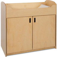 Foundations Serenity Natural Wood Changing Table with Storage [1773047]