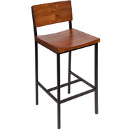 Bfm Seating Trent Metal Backless Restaurant Bar Stool With
