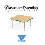 Virco Clover-shaped 48-inch Preschool Activity Table [48CLO48LO]