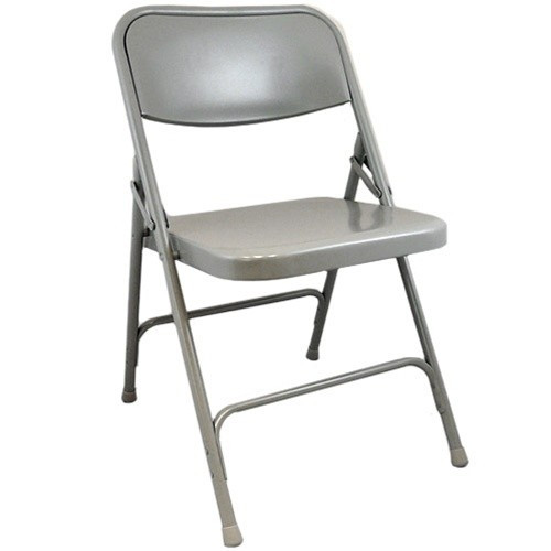 dove grey metal folding chair | metal folding chairs | heavy-duty