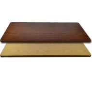 "Advantage 24""x42"" Restaurant Table Top - Oak / Walnut Reversible [CT2442-OWBR]"