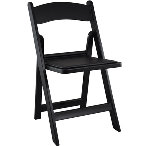 Advantage Black Resin Folding Chairs
