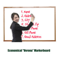 Ghent 4'x6' Verona Hardwood Frame Melamine Whiteboard [M2W-46-4]