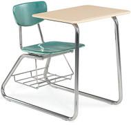 Virco Sled-base Martest 21 Chair Desk [3640BRM]