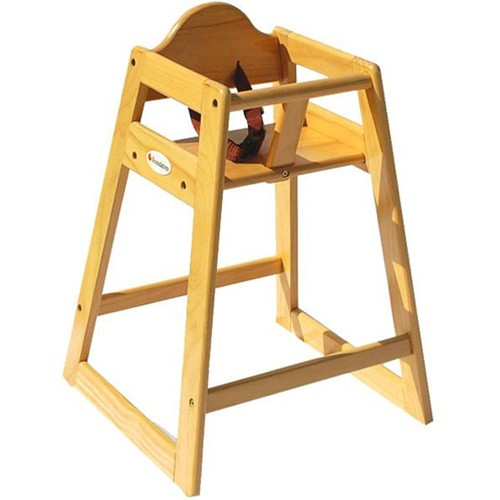 foundations natural wood high chair 4501049 high chairs