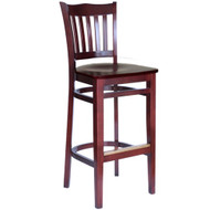 BFM Seating Princeton Mahogany School Back Restaurant Bar Stool [WB7218MHMHW]