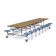 Virco 12 ft. Virco Mobile Cafeteria Stool Table - 15-inch Seat Height [MTS15271216]