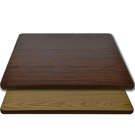 "Advantage 24""x24"" Restaurant Table Top - Oak / Walnut Reversible [CT2424-OWBR]"