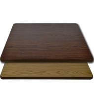 "Advantage 24""x24"" Restaurant Table Top - Oak / Walnut Reversible [CT2424-OWBR]"